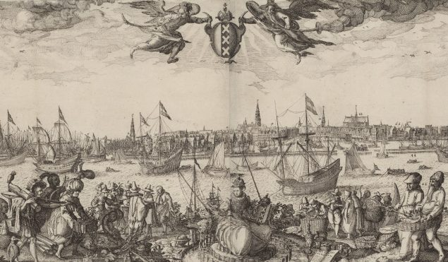 Claes Jansz. Visscher (II), Profile of Amsterdam (detail), 1611 Rijksmusem Amsterdam