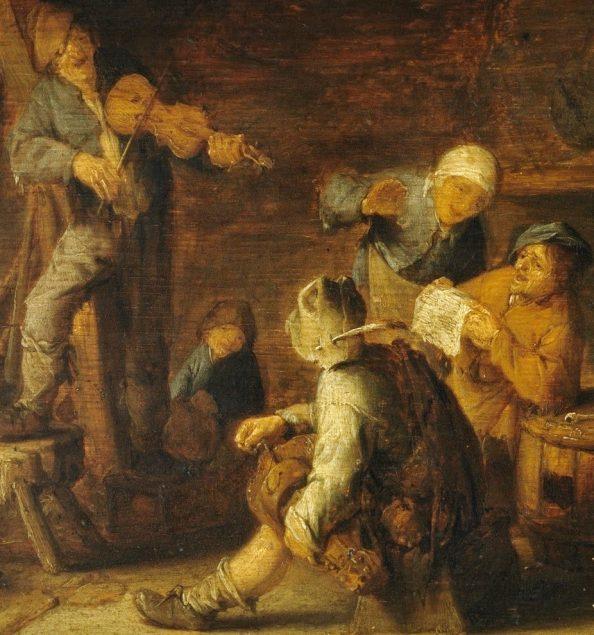 Adriaen van Ostade (1610-1685), Country Concert (detail), ca.1638 Museo Nacional Del Prado, Madrid