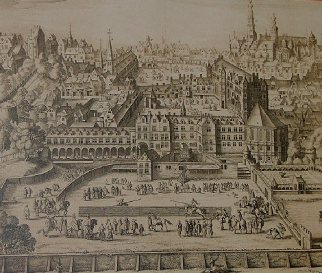 The palace of Coudenberg before the destruction of 1731