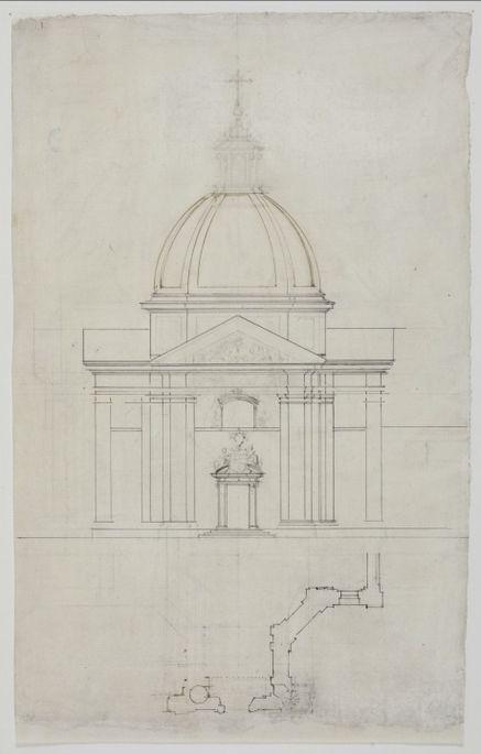 Tilman van Gameren (1632-1706), Design for St. Kazimierz Church in Warsaw, 1687 University of Warsaw Library, Warsaw