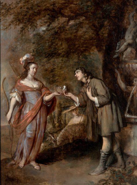 Gerbrand van den Eeckhout (1621-1674), Granida and Daifilo, ca. 1655-60