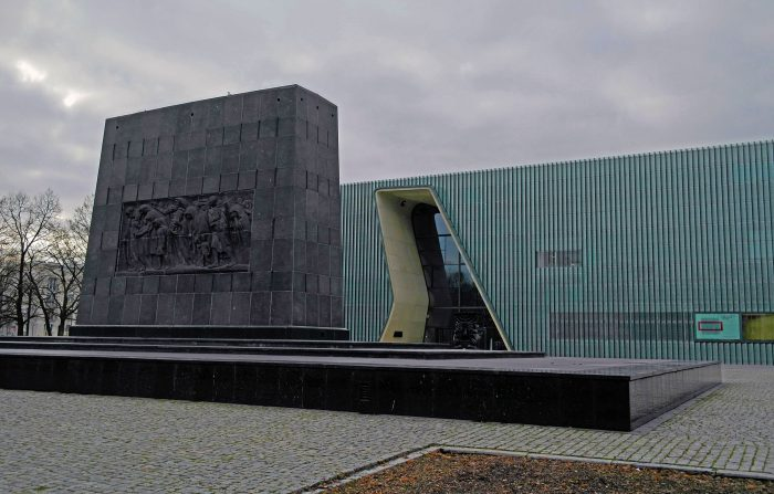 Monument to the Ghetto Heroes and Polin: Museum of the History of Polish Jews, Warsaw
