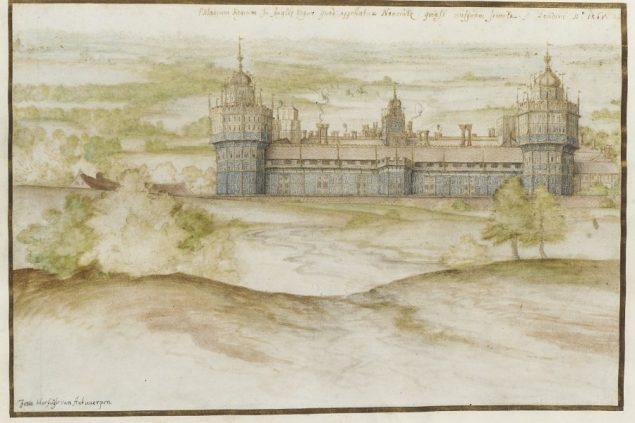 Joris Hoefnagel (1542-1600), Nonsuch Palace, 1568 Victoria and Albert Museum, London