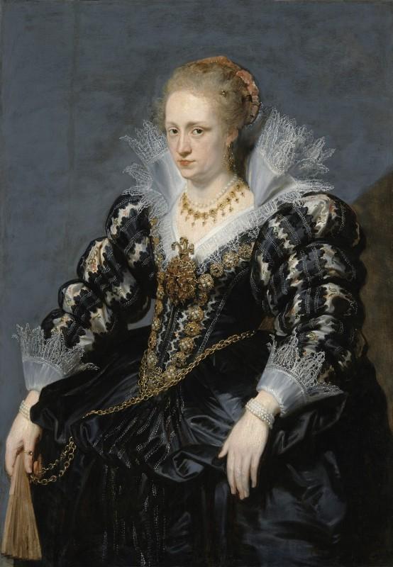 Unknown artist, after Peter Paul Rubens (1577-1640) or Anthony van Dyck (1599-1641), Portrait of Portrait of Jacqueline van Caestre Royal Łazienki Museum, Warsaw