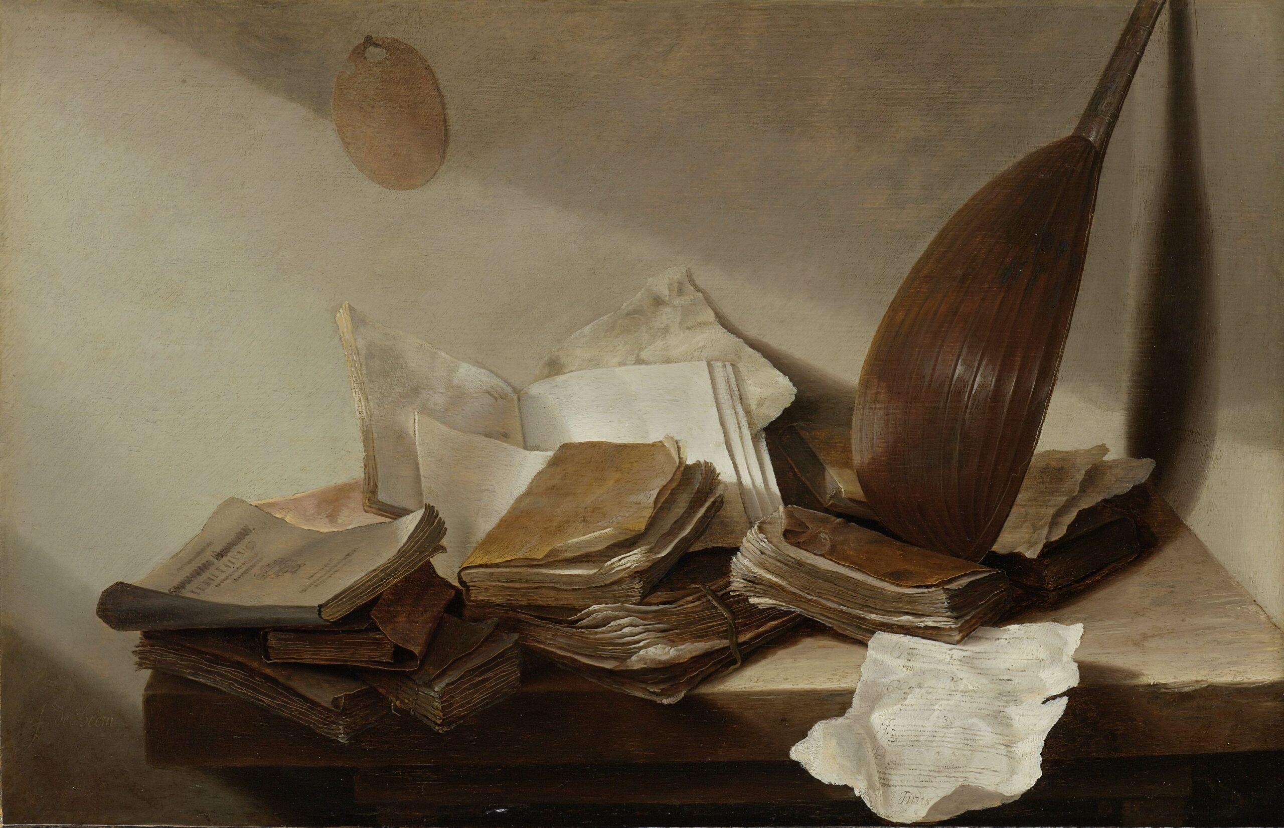 Jan Davidsz. de Heem (1606-1683/1684), Still Life with Books, 1625 - 1630 Rijksmuseum, Amsterdam