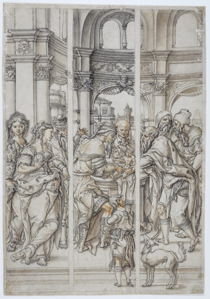 Pieter Coecke van Aelst , The Circumcision; design for a stained-glass window, 1530-1533 Warsaw University Library, Warsaw