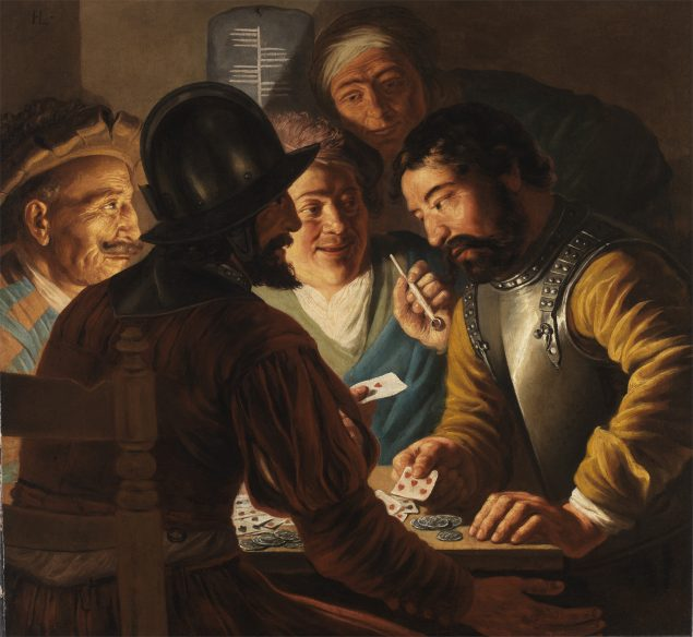 Jan Lievens (1607–1674), <em>Card Players</em>, ca. 1625<br /> The Leiden Collection, New York