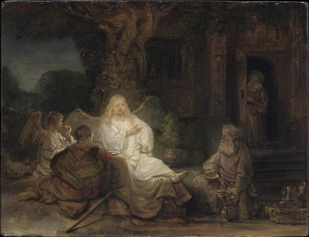 Rembrandt van Rijn (1606-1669), Abraham Entertaining the Angels, 1646 Private collection