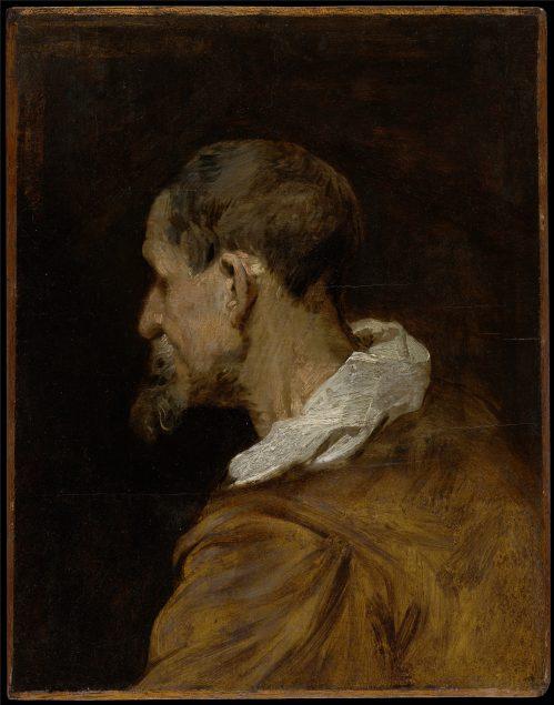 Anthony van Dyck (1599-1641), Study of a Bearded Old Man in Profile, Facing Left, before 1618, Koninklijk Museum voor Schone Kunsten, Antwerp