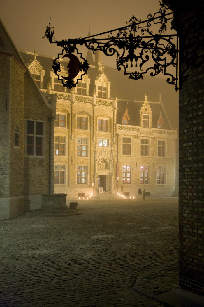 The Gruuthusemuseum in the evening Cel Fotografie Stad Brugge