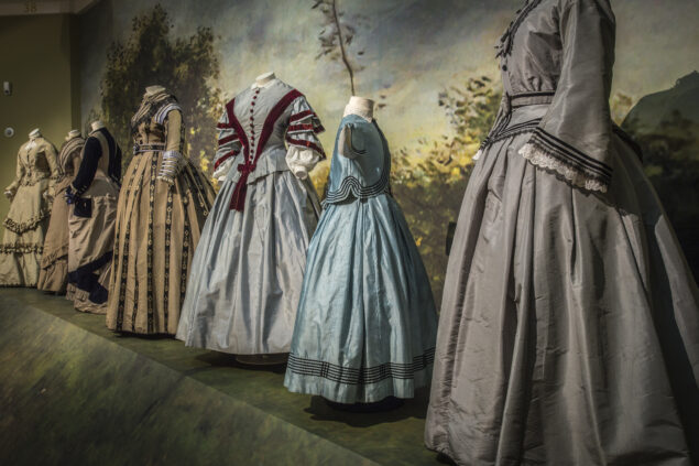 A selection of dresses on display for the 2014 exhibition Romantic Fashion: Mr. Darcy meets Eline Vere Photo: Alice de Groot