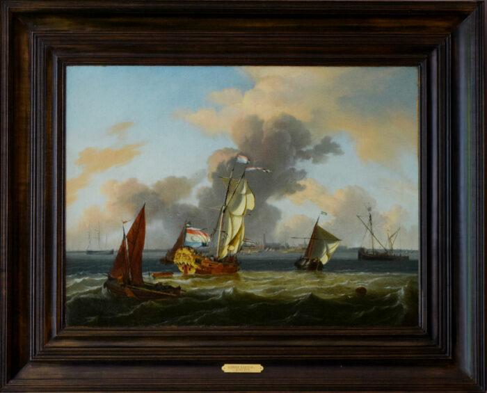 Ludolf Bakhuizen (act. 1649-1707), <em>Ships off the Coast near Hoorn</em>, ca. 1700
