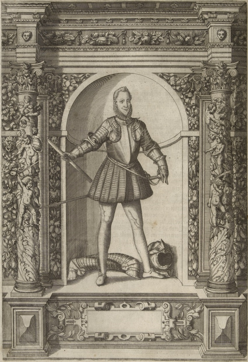 Fig. 7: Portrait of Maurits, prince of Orange, in Jacob Schrenck von Notzing, Armamentarium Heroicum, no. LXVIII, Innsbruck 1603 Kunsthistorisches Museum, Library, Vienna