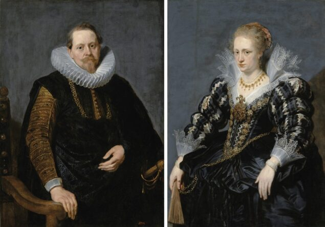 Portrait of Jean-Charles de Cordes and Portrait of Jacqueline van Caestre painted by an unknown artist after Peter Paul Rubens (1577-1640) or Anthony van Dyck (1599-1641)<br>Royal Łazienki Museum