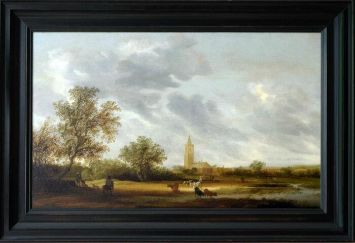 Salomon van Ruysdael (ca. 1600-1670), <em>Landscape with a Church</em>, ca. 1640-50