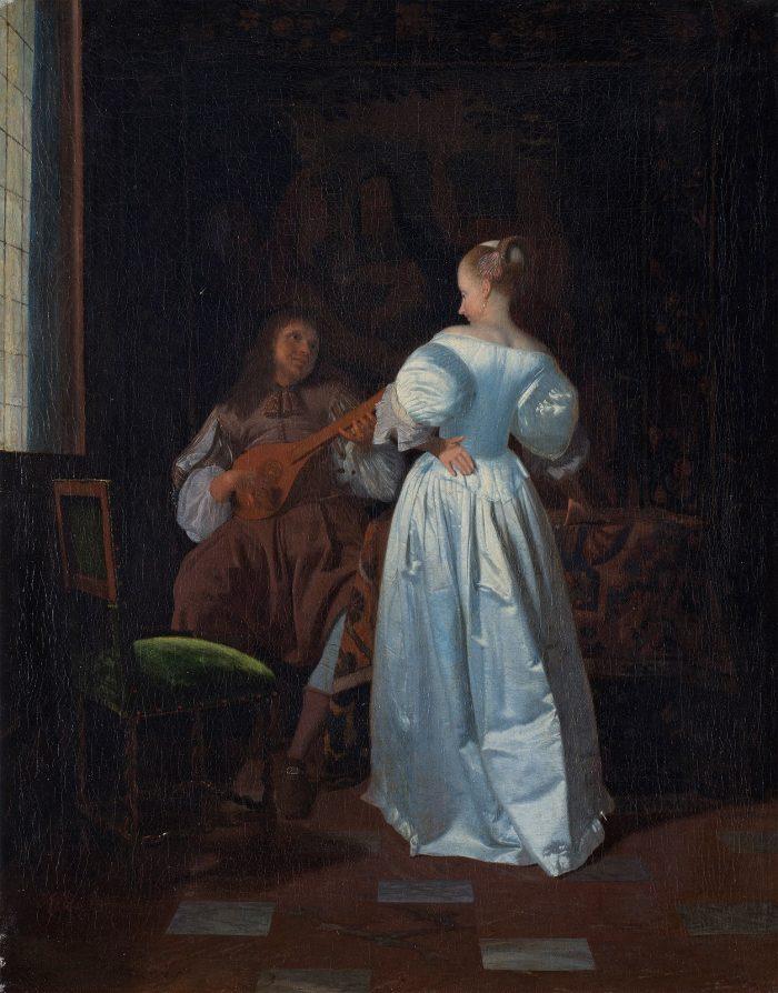 Jacob Ochtervelt (1634-1682), The Serenade, ca 1670 Kunsthalle Bremen – Der Kunstverein, Bremen