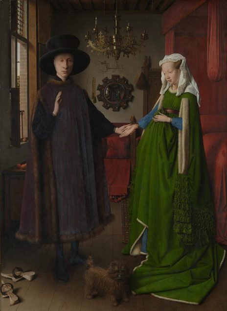 Jan van Eyck (act. 1422-1441) Portrait of Giovanni(?) Arnolfini and his Wife, 1434 The National gallery, London