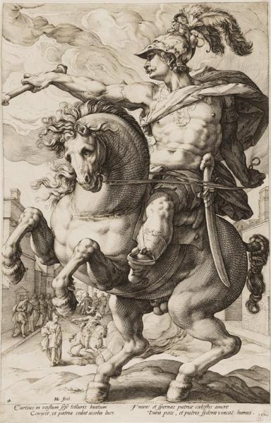 Hendrick Goltzius (1558-1617 ), Marcus Curtius , 1586 Museum Kurhaus Kleef