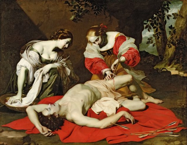 Nicolas Régnier (ca. 1588-1667), St Sebastian Tended by the Holy Irene, ca. 1625 Ferens Art Gallery, Kingston upon Hull