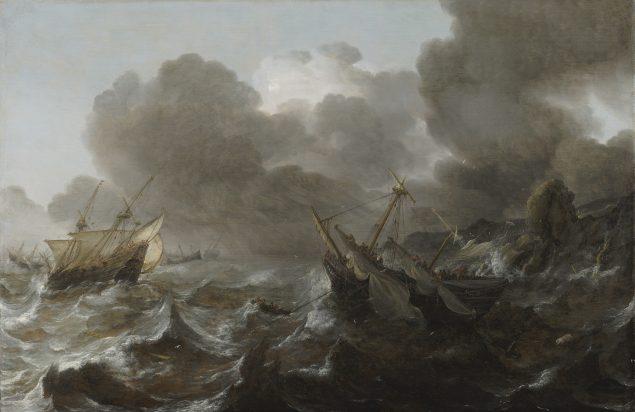 Jan Porcellis (1583-1632), Ships in a Storm, ca. 1618-22 Frans Hals Museum, Haarlem