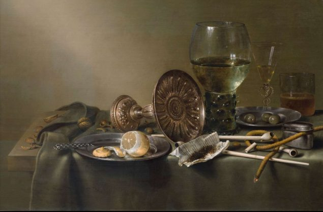 Willem Claesz. Heda (1594-1680), Still Life with Glasses and Tobacco (detail), 1633 Rose-Marie and Eijk van Otterloo Collection