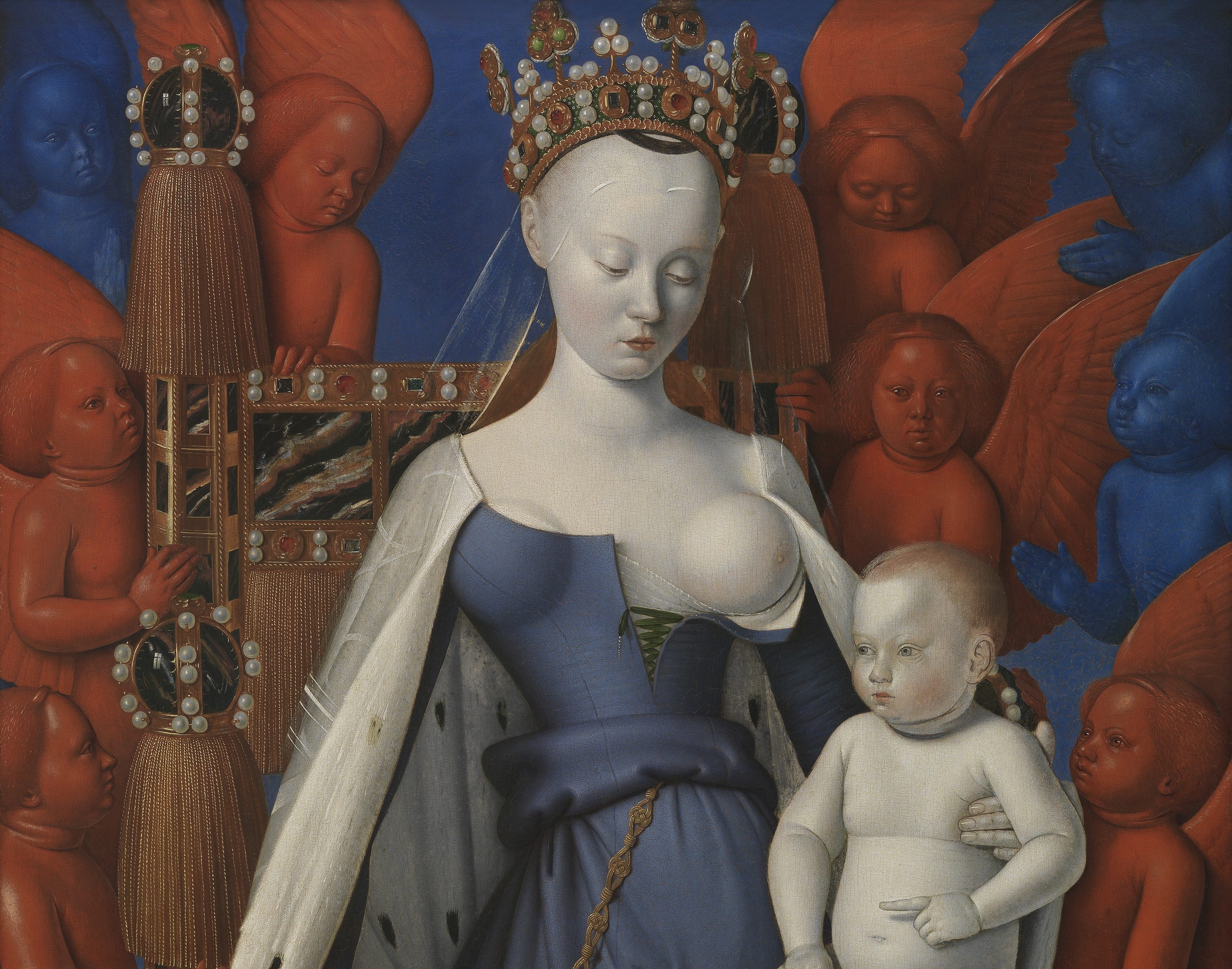 Jean Fouquet (ca. 1415-1480), Virgin and Child Surrounded by Angels, ca. 1455 Royal Museum of Fine Arts, Antwerp