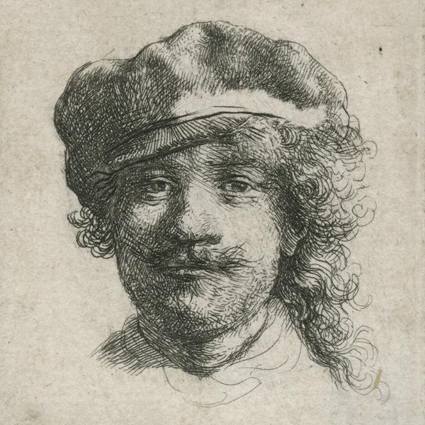 Rembrandt (1606-1669), <em>Self-Portrait Wearing a Soft Cap</em> (detail), 1634 Norwich Castle Museum, Norwich