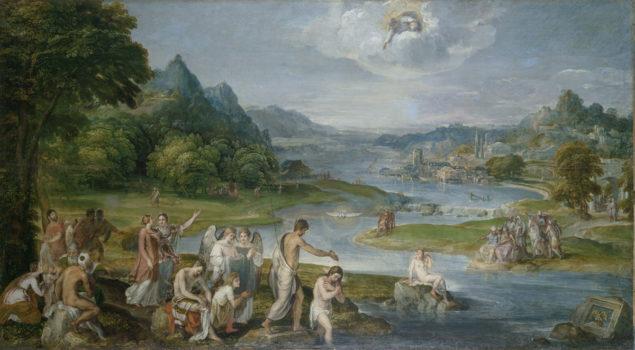 Lambert Sustris (act. ca. 1525-1591), Baptism of Christ, ca. 1530-90 Musée des Beaux-Arts, Caen