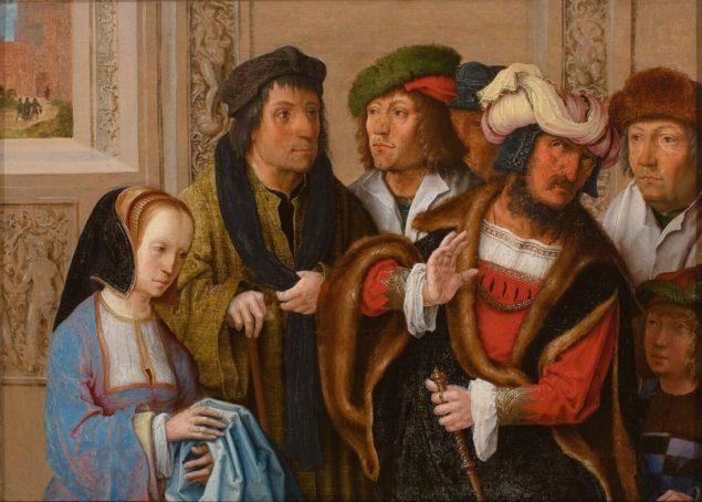 Lucas van Leyden (ca. 1489-1533), <em>Potiphar's Wife Displays Joseph's Garment</em>, ca. 1512<br /> Museum Boijmans Van beuningen, Rotterdam