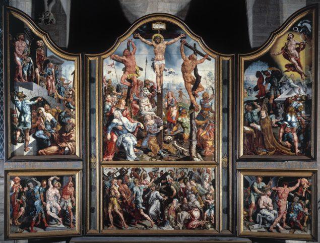 Maarten van Heemskerck (1498-1574), <em>St. Lawrence Altarpiece</em>, 1538-1542<br>Linköping Cathedral, Linköping