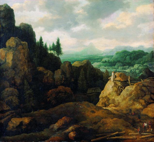Allaert van Everdingen (16251-1675), <em>Scandinavian Mountain Landscape</em>, ca. 1665 Kunst Museum Winterthur, Jakob Briner Foundation, Winterthur