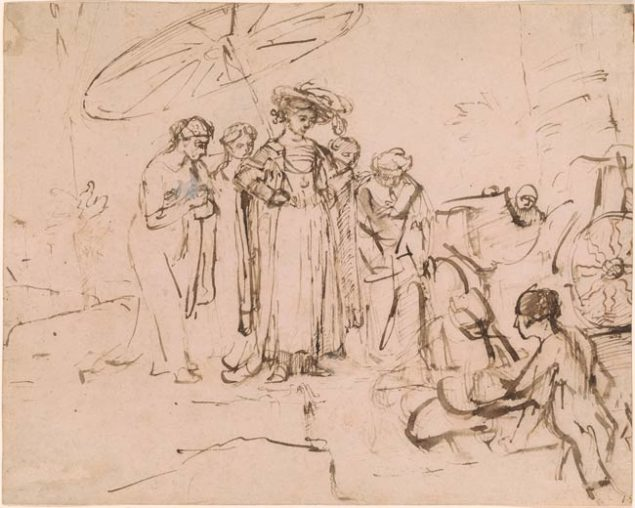 Rembrandt (1606-1669), The Finding of Moses, ca. 1655 Morgan Library & Museum, New York