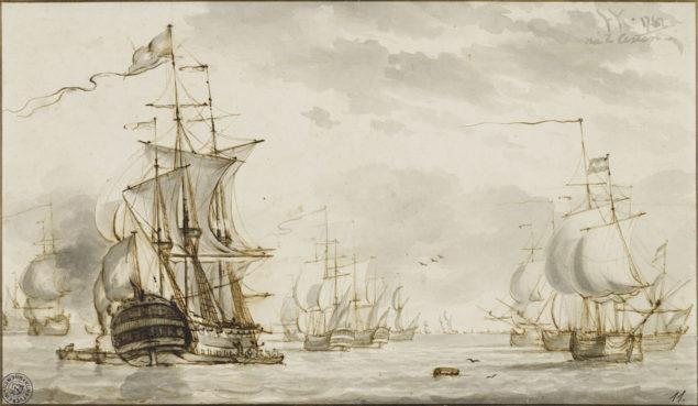 Hendrik Kobell (1751-1779), Seascape, 1767 Kunsthalle Bremen