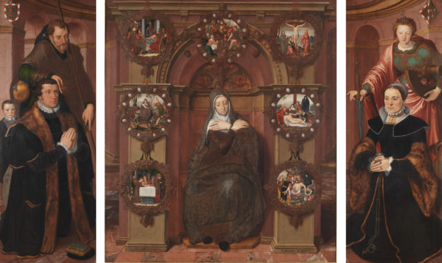 Pieter Pourbus (1543-1584), <em>The Van Belle Triptych</em>, 1556 Sint-Jacobskerk, Bruges