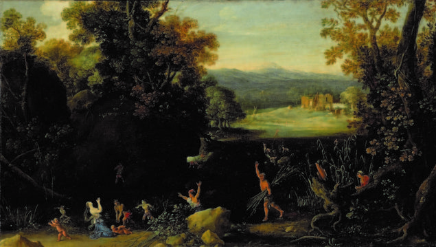 Bartholomeus Breenbergh (1598-1657), Wooded Landscape with Latona and The Lycian Peasants, 1630 Museum de Waag, Deventer