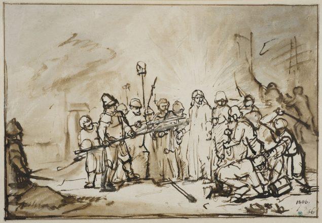 Rembrandt Harmensz. van Rijn (1609-1669), <em>The Arrest of Christ</em> Nationalmuseum, Stockholm