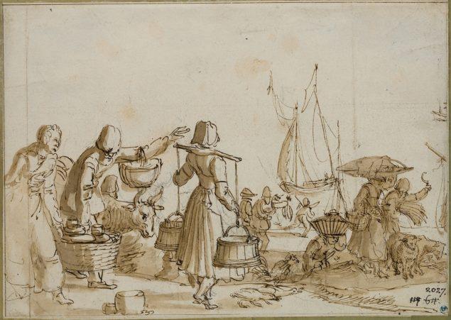 Claes Jansz. Visscher (ca. 1587-1642), <em>Harbour Scene</em> Nationalmuseum, Stockholm