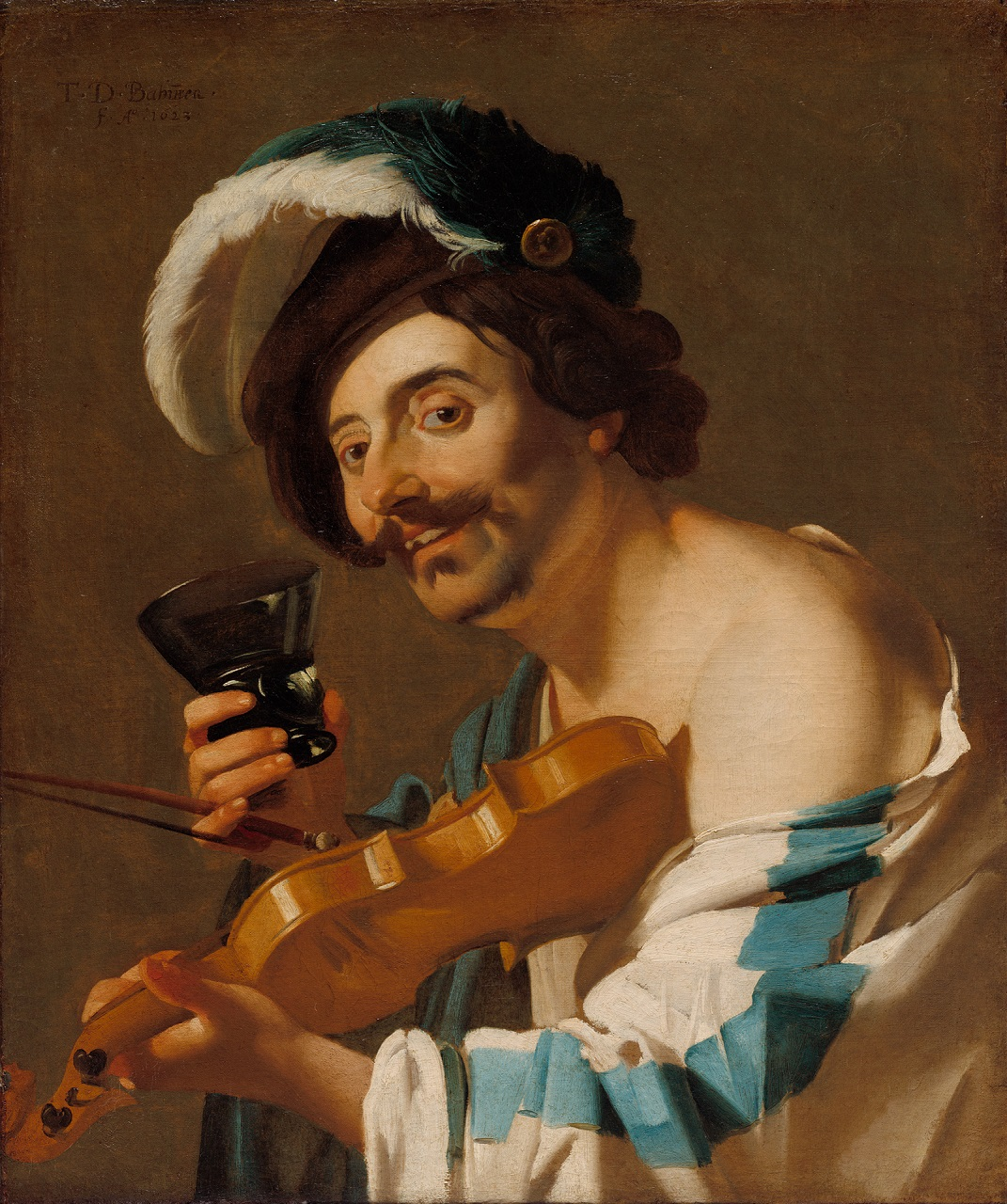 Dirck van Baburen (ca. 1592/1593–1624), The Violin Player, 1623 The Cleveland Museum of Art, Cleveland (Ohio)