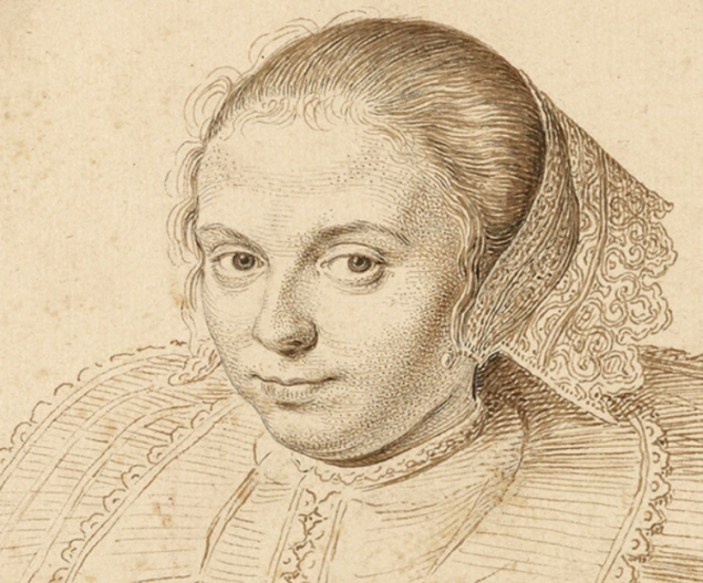 David Bailly (1584-1657), <em>Portrait of a Woman</em> (detail), 1629,  The J. Paul Getty Museum, Los Angeles