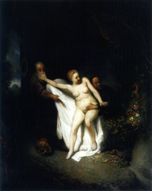 Jan Lievens (1607-1674), Susanna and the Elders, ca. 1631, oil on panel, 41 × 51 cm Current location unknown