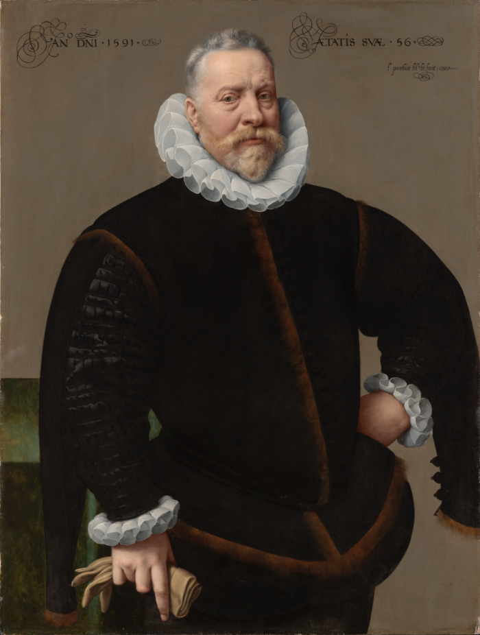 Frans Pourbus the Younger (1569-1622), Unknown Man, Aged 56, 1591 Private collection, Antwerp