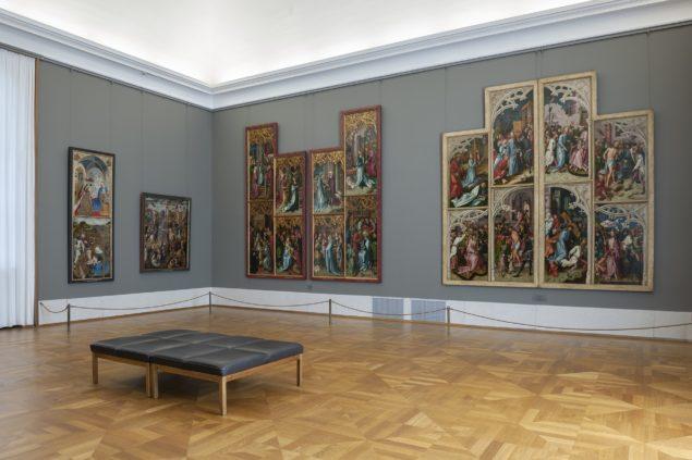 New gallery rooms for Early German Painting on the ground floor of the Alte Pinakothek Photo: Haydar Koyupinar © Bayerische Staatsgemäldesammlungen