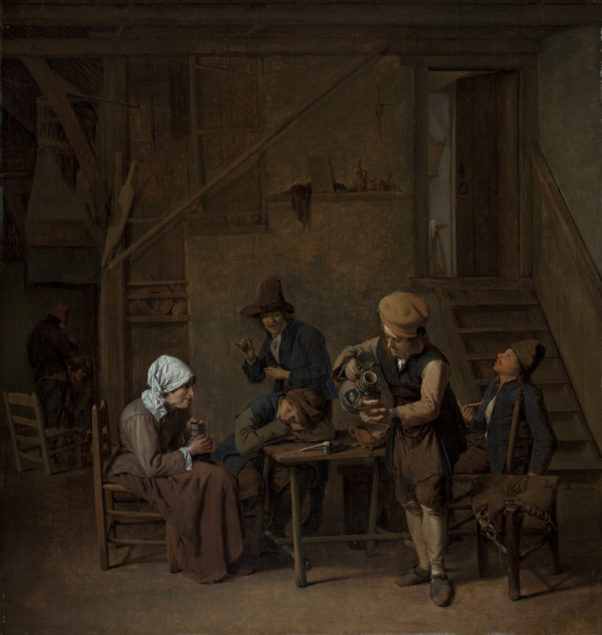 Cornelis Schaeck, (act. 1657-1663), <em>Peasants in an Interior</em>, ca. 1660 Worcester Art Museum, Worcester (MA)
