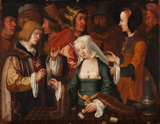 After Lucas van leyden, <em>The Fortune Teller and His Wife</em>, after ca. 1510 Musée d'arts de Nantes, Nantes
