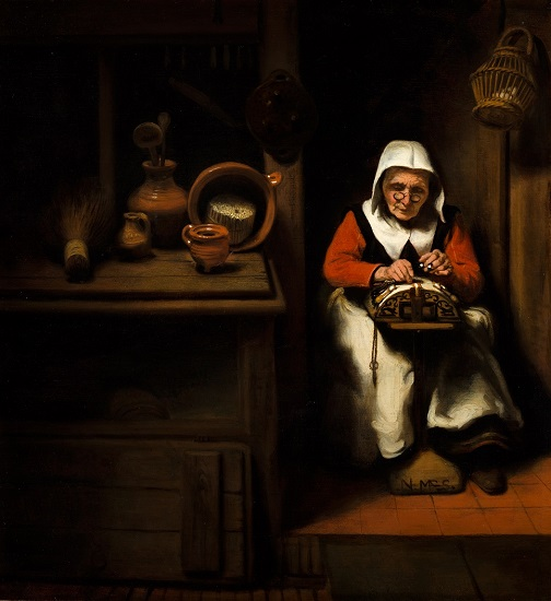 Nicolaes Maes (1634-1693), The Old Lacemaker, ca. 1655 Mauritshuis, The Hague