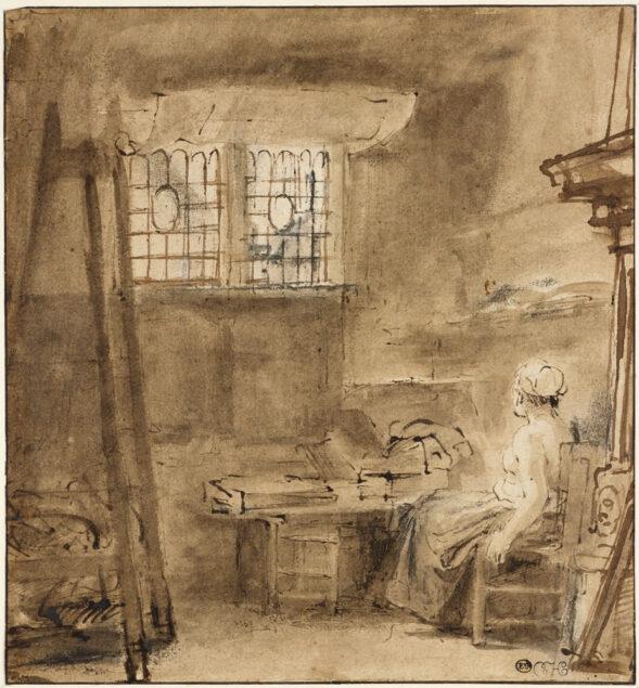 Rembrandt (1606-1669), <em>The Artist's Studio</em>, 1659 Ashmolean Museum, Oxford