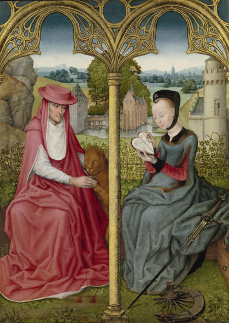 Unknown artist from Bruges or Brussels, Saint Jerome and Saint Catherine of Alexandria. ca. 1480-90 Rijksmuseum, Amsterdam on loan from the Broere Charitable Foundation