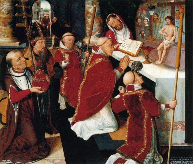 Pieter Claeissens I (ca. 1499-1576), <em>The Mass of Saint Gregory</em>, after 1530 Sarah Campbell Blaffer Foundation, Houston