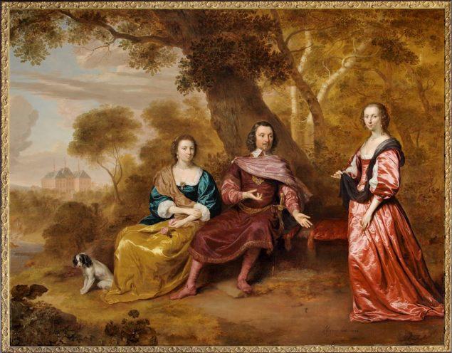 Johannes Mijtens (1614-1670), <em>Johan van Wassenaer Duvenvoirde (1577 - 1645) and his two deceased wifes: Maria van Voorst van Doorwerth (1575 - 1610) and Clara de Hinojosa (1587 - 1631)</em>, 1643 Kasteel Duivenvoorde, Voorschoten