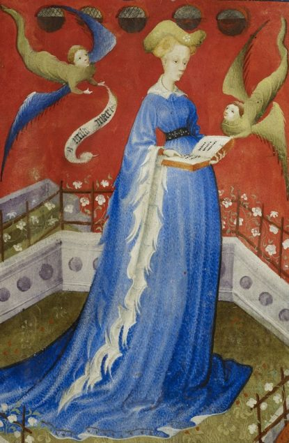 Artist from the Guelders region, Marie of Guelders ca. 1415 Staatsbibliothek zu Berlin, Ms. Germ Oct 42., Vol. 19v